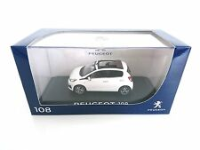 PEUGEOT 108 2014 5 PORTES BLANC NOREV 471800 1/43 WHITE BIANCA WEISS FIVE DOORS