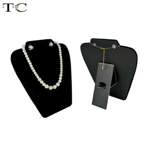 Black Velvet Collapsible Necklace Display Prop Earrings Stand Pendant Rack
