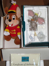 Dumbo Porcelain Disney WDCC retired Ornament Figurine w/the RARE Plush Timothy