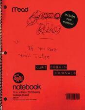 Journals by Kurt Cobain 2003 Large Paperback