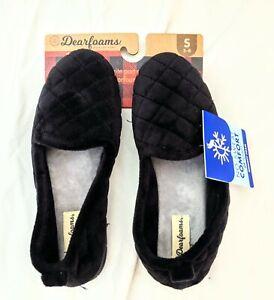 NWT Women's Dearfoams Slippers Size 5/6 Memory Foam Easy On/Off NEW