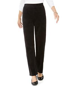 Karen Scott Sport Velour Pull-On Trousers, US L / UK XL regular rrp $546.50