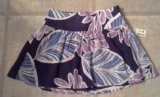 (NWT) Aeropostale Junior's Size XS Navy Floral Cotton Lined Skirt