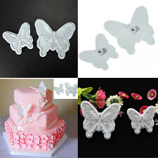 2pcs/Set Butterfly Cake Fondant Sugarcraft Cookie Plunger Cutter Mold Tool