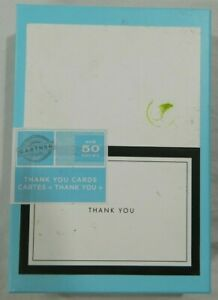 Gartner black border thank you cards 50 count New in package NIP