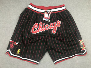 Hot sale Chicago Bulls Retro with Pockets Basketball Shorts Size S-XXL