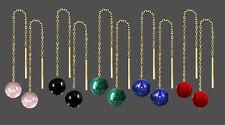 ECHT GOLD *** 1 Paar Edelstein Durchzieher Ohrringe 65 mm