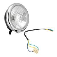"5 3//4/"" Housing Light Halogen Headlamp Headlight For Harley Duo Glide Bad Boy"