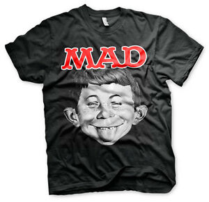 Officially Licensed MAD Magazine - Alfred Men's T-Shirt S-XXL Sizes