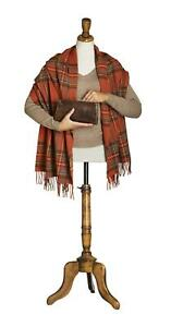 Bronte Tartan Merino Lambswool Stole Wrap Shawl British made 50cm wide scarf