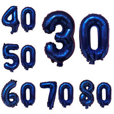 """16"""" Number Foil Balloons Birthday Wedding Party Decor Gold Silver Blue Pink"""