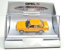 Opel Ascona B 1975-1981 gelb Maßstab  1:43 in Vitrine