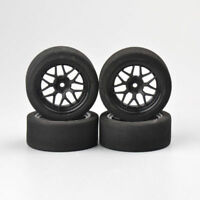 4Pcs Foam Tires & Wheel Rims 12mm Hex For HSP HPI RC 1:10 on-Road Racing Car