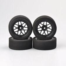 4Pcs Foam Tires & Wheel Rims 12mm Hex For HSP HPI RC 1:10 on-Road Racing Car