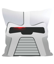 "Square Head Design Cylon Inspired Printed 12"" Sofa Cushion Battlestar Galactica"