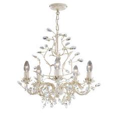 Searchlight 2495-5CR Almandite Cream Gold Finish 5 Light Chandelier Crystal