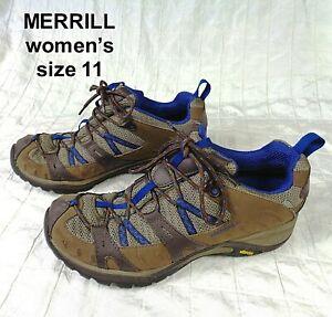 MERRELL Siren Sport 2 Waterproof Hiking Shoes Vibram J21442 Women Sz 11 WORN 1X
