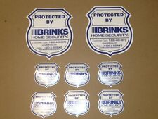 6 - NEW   Brinks Window Decals w/ 2 Laminated  Brinks  Signs