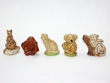 WADE PORCELAIN FIGURINES-ENGLISH WHIMSIES-SET 10---1979 ENGLISH ANIMALS