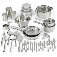 Stainless Steel Non-Stick Cookware Pots Pans Utensils Kitchen Tools 52 Piece Set