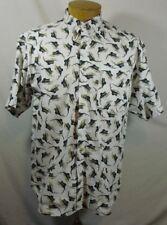 Columbia Sportswear Marlin SwordFish Print Mens SS Shirt Sz M Med Medium