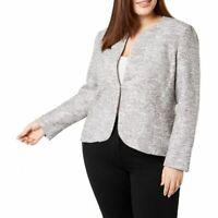 ANNE KLEIN NEW Women's Spring Shower Combo Plus Tweed Blazer Jacket Top 24W TEDO