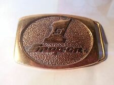 Vintage '80's SNAP-ON TOOLS Solid Brass Buckle #1 FREE U.S. SHIPPING