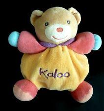 *- DOUDOU BOULE KALOO OURS ORANGE ROSE BLEU VIOLET 18cms - EXCELLENT ETAT