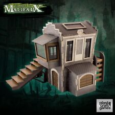 Malifaux 28mm Terrain DOWNTOWN BUILDING Plast Craft Games Mordheim Lot Skirmish