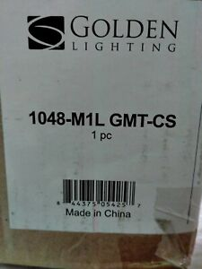 Chatham 1-Light Gunmetal Bronze Mini-Pendant by Golden Lighting