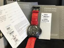 Panerai 1950 Luminor GMT 10 Day Black Ceramica 44mm PAM 335 Box Papers 2 Bands