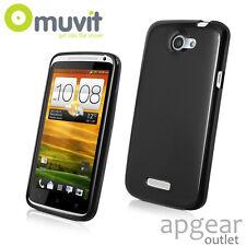 GENUINE MUVIT HTC ONE X BLACK MINI GEL GLAZY MUSKI0062 PHONE CASE COVER