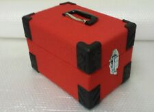 NEW 7inch record box singles case, retro red FREE POSTAGE.