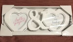 Double Heart Picture Frame-Shabby Chic Distressed Farmhouse Style GLOBAL SHIP!