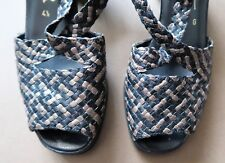 *AS NEW Size 37 Ara Flair Black & Bronze Woven Leather Sandals