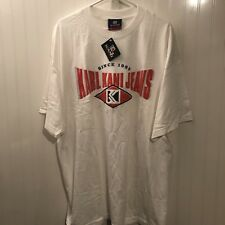 Vtg Karl Kani Jeans T Shirt Tupac Hip Hop 90s XXL Spell Out 2xl Vintage NWT Rare