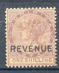 DOMINICA 1879-86 -one shilling filigrana CC