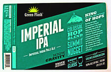 Green Flash Brewing IMPERIAL IPA beer label CA 22oz