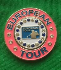 Large EUROPEAN TOUR  Magnetic Golf Ball Marker PINK 4cm Dia NEW.