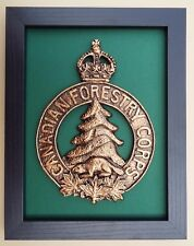 Large Scale Framed CANADIAN FORESTRY CORPS Badge Plaque
