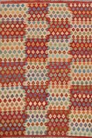 Geometric Kilim Reversible Hand-woven Oriental Area Rug Vintage Style Carpet 5x6