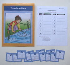 Evan Moor Math Center Resource Game Transformations slid flip turn