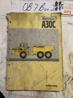 Volvo Model A30C 6x6 Articulated Dump Truck Owner Operator Maintenance Manual