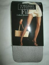 Le Bourget Fishnet Fashion TIGHTS Pantyhose Large-XL Cappuccino Brown NEW