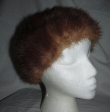 Vintage Women's Mink Fur Dark Brown Hat