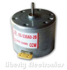 NEW MABUCHI DC 12V CCW Tape Recorder Audio Spindle Motor - model: EG-530AD-2B