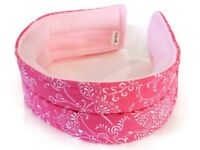 Microwave Heating Pad Headband, Head Hot Cold Pack, Migraine Headache Wrap, pink