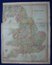 Original large antique map ENGLAND & WALES, Henry Teesdale, c.1830