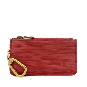 Louis Vuitton Epi Pochette Cles Red Leather Wallet Coin Purse /B1866