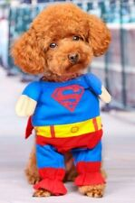 Puppy Cat Dog Pet SuperMan Costume Halloween Outfit Superdog Gift Fancy Dress S